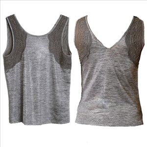 BUCKLE Ltd. Ed. Silver Beaded Embellished Tank Top